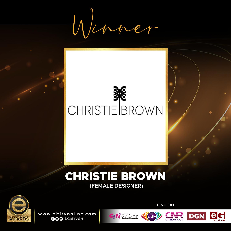 Winner – CHRISTIE BROWN 1